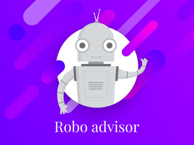 Robo-advisor character robot character platform banking fintech roboadvisor