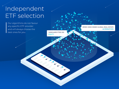 Fintech platform highlighted univers isometric etf stockexchange banking fintech