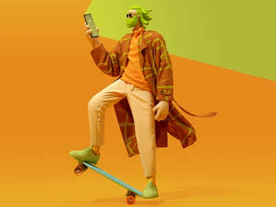 Bianka people cgi digital design c4d marvelous designer fashion design 3d characterdesign fashion