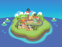 The illustration for gaming map