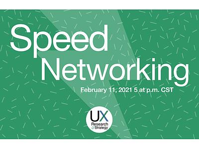 Networking promo Green Horiz branding visual design design user experience ux social media social media design