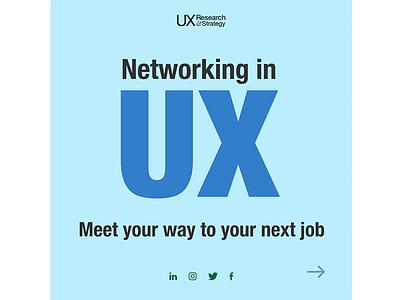 Networking Carousel branding visual design design user experience ux social media social media design