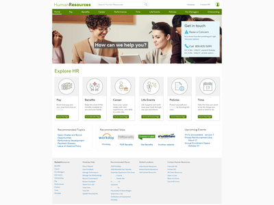 Final design of Human Resources website mockups research visual design design user experience ux