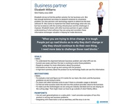 Persona of business partner purchasing enterprise software