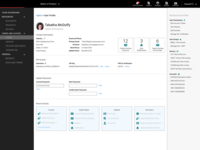 User profile in customer portal