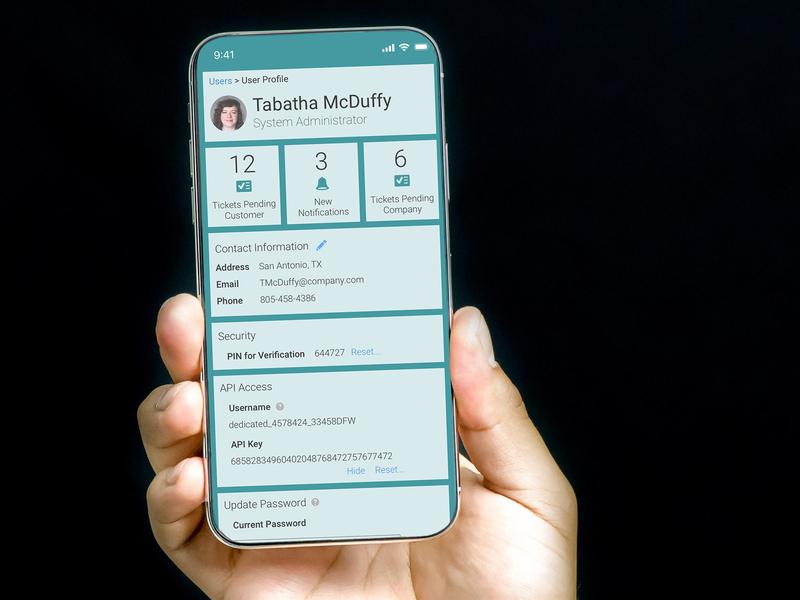 User Profile on Mobile