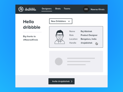 Hello Dribbble intro community new designer new dribbbler hello dribbble debut shot first dribbble shot thanks bangalore