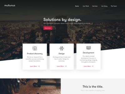 #Exploration | Homepage home page redesign website typography landing desktop