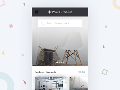 Furniture App - Mobile shot design ios mobile furniture ui ux