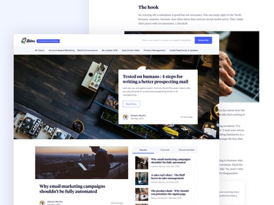 Bites | The PipeCandy Blog stuff write simple ui ux flat minimal fresh pipecandy design clean blog