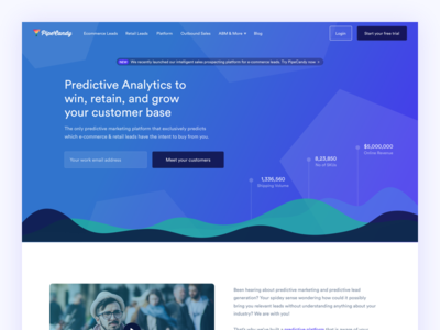 PipeCandy | Home Page home sales predictive machine landing design data b2b analytics