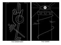 Tarot Cards - The Hierophant & The Tower