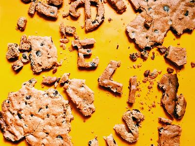 adjEATives- DELISH cookie love chocolate chip cookie food type hand lettering adjeatives cookies