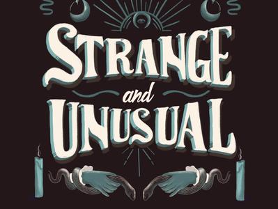 strange and unusual unusual strange handlettering victorian design typography type lettering illustration hand lettering