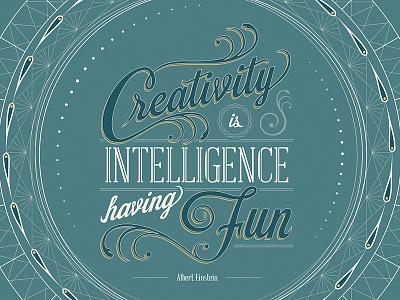 Albert Einstein quote albert einstein experiment fun creativity typography