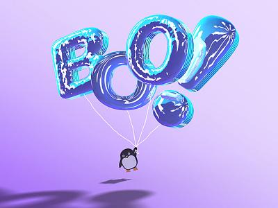 Boo Balloons 800x600 Copy typography birdsofflight dreamsdocometrue imflying! vector reflections ibls digitalart penguins balloons boo photoshop3d