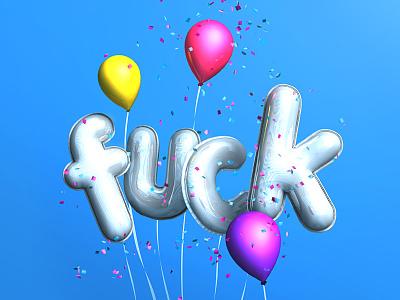 Surprise! 3d fun ibl fuck surprise confetti balloons photoshop3d photoshop
