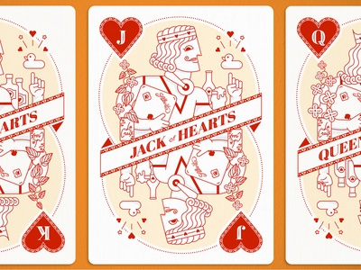 Jack of Hearts advertising jack of hearts la croix atlanta icons vector illustration card design playing cards