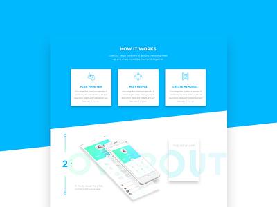 Overout landing page overout gradient landing typography flat vector webesign web design ux ui