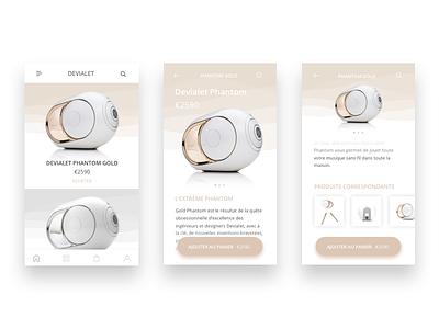 Devialet Phantom  vector ux ui typography ios gradient uiux ecommerce devialet phantom design app
