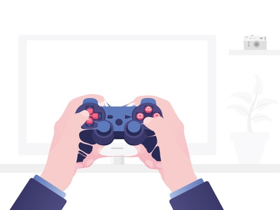 Technological addictions #2 vector typography technologies games gaming illustration flat design flat design xbox