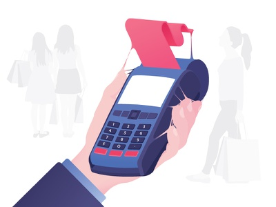 Technological addictions #5 credit card machine vector typography money credit card technologies illustration flat design flat design