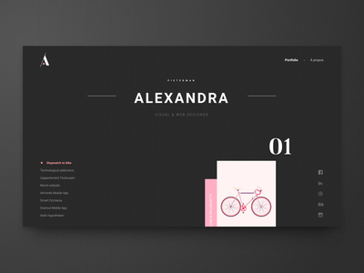 Personal Folio branding projects scroll parallax uiux webdesigner portfolio folio webdesign website