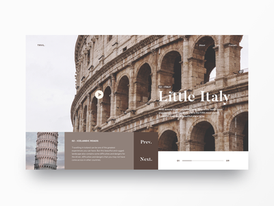 Travel UI Concept - Part 2 travel website anding page website webdesign ux ui travel landing l design dailyweb