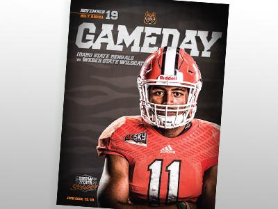 Gameday program cover