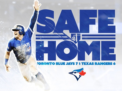 Safe at Home alds texas rangers blue jays toronto mlb