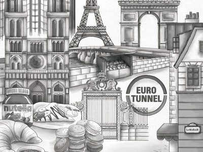 Paris Collage By Bekah Hanson