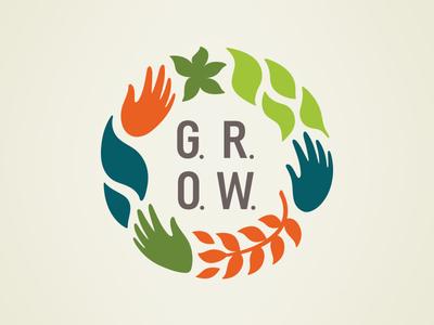 Olam G.R.O.W. flower wellness grow life hands leaves women logo