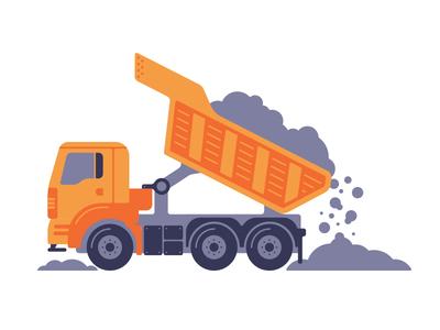 Dump Truck illustration dirt machine vehicle construction dump truck truck
