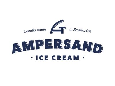 Ampersand Ice Cream logo dessert ice-cream food eat local restaurant