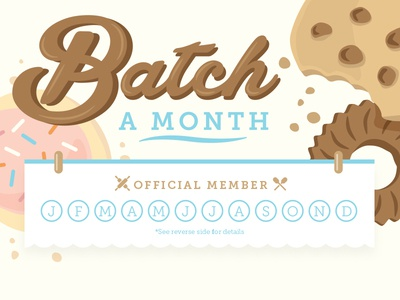 Batch a Month gift card brownie cake cookie bake food voucher coupon gift