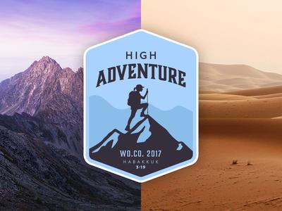 High Adventure pack adventure hiking climbing desert mountains outdoor patch seal logo