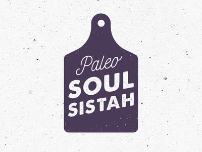 Paleo Soul Sistah logo identity food kitchen cooking paleo nutrition food blogger blog