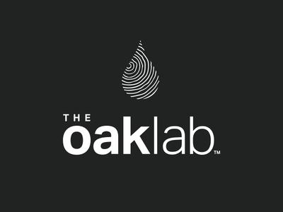 The Oak Lab branding and identity branding wine label nature finger print chemistry wood barrel wine agriculture logo