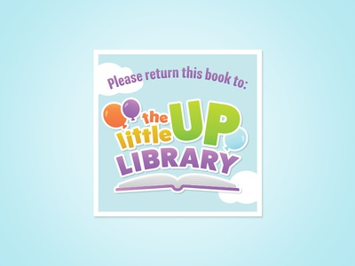 Little Up Library children education clouds sky balloons books fun reading kids brand identity branding brand logo