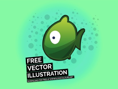 Fish - Free vector illustration collection - #2 vector illustration vector graphic undewater swimming sea ocean love heart fishing fish bubbles animals
