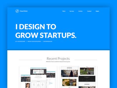 Portfolio Site Sneak Peek web development web design entrepreneur startups design ux ui