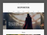 Reporter digital magazine web design magazine news reporter design ui ux