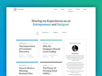 Personal Blog Coming Soon development design web startups entrepreneurs designers blog