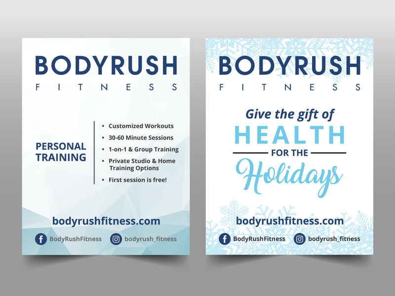 BODYRUSH Fitness Flyers by Meredith McNulty on Dribbble