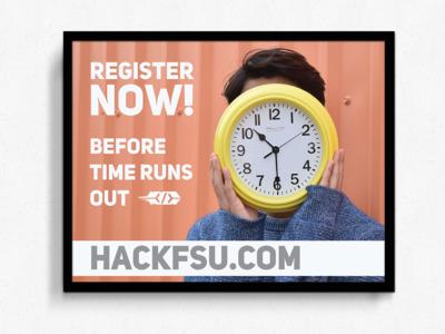 HackFSU Register Now Poster