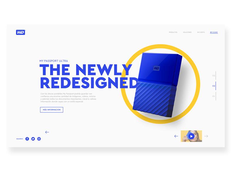 Western Digital Blue Website ux ui webdesign clean concept