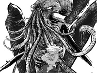 Popeye & Cthulhu Mashup - Benzine - Zine cover art