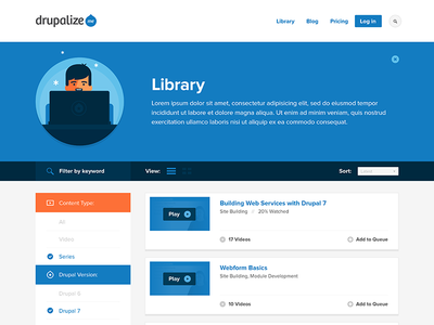 Drupalize.Me Library Prototype