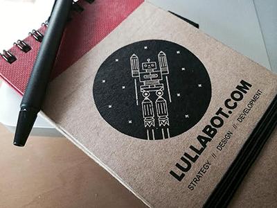 Lullabot Notebook illustration notebook design robot sketch book fun drupal drupalcon handout lullabot