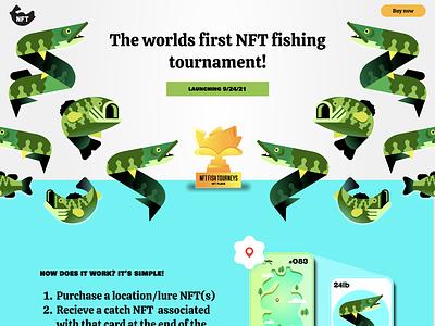 NFT Fishing Tourney - Website figma web illustration crypto ui ux fishing nft